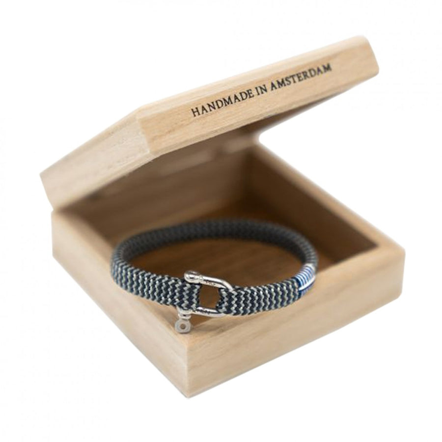 Pig and Hen Men's Vicious Vic Rope Bracelet, Gray