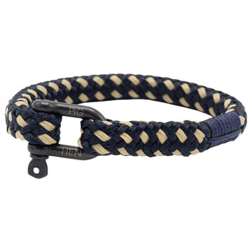 Pig and Hen Men's Hairy Harry Bracelet, Navy-Sand