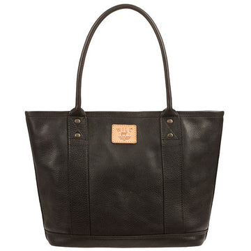 Will Leather Goods Signature Leather Everyday Tote, Black - upscaleman.myshopify.com