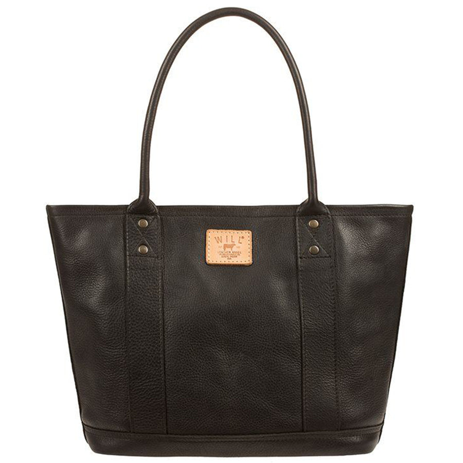 Will Leather Goods Signature Leather Everyday Tote, Black