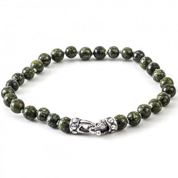 Scott Kay Sterling Silver Green Jasper Beaded Bracelet