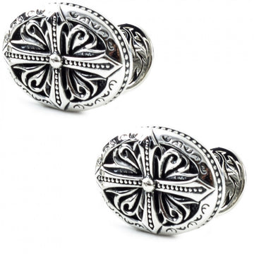 Scott Kay Sterling Silver Sparta Engraved Cufflinks