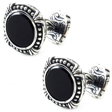Scott Kay Sterling Silver Black Onyx Cufflinks