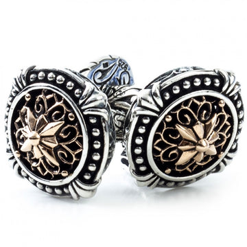 Scott Kay Sterling Silver and Bronze Cufflinks