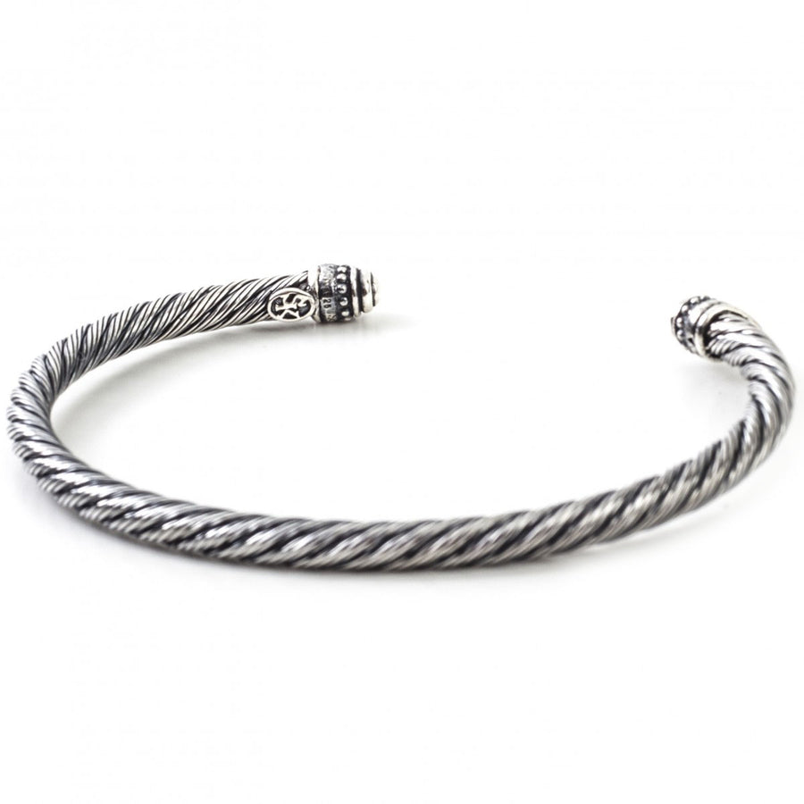 Scott Kay Men's 6mm Twisted Wire Style Thick Silver Bracelet