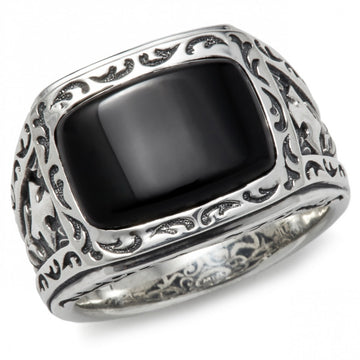 Scott Kay Gilbert Black Onyx Stone Ring