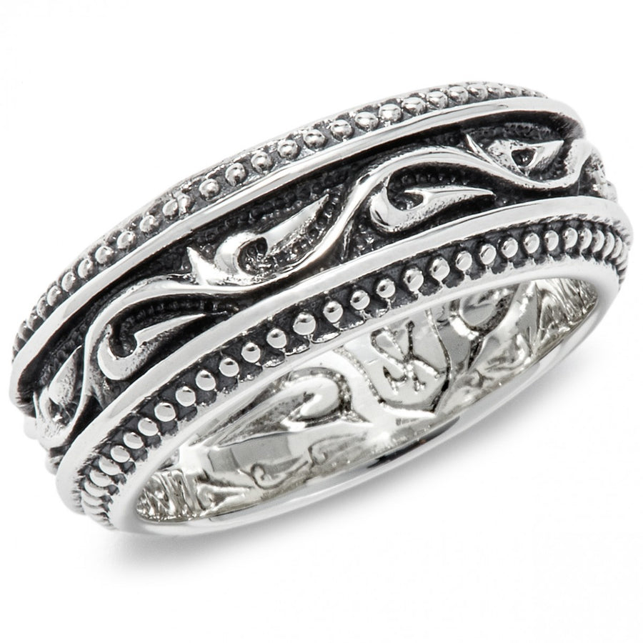 Scott Kay Unkaged Sparta Engraved Silver Knotted Ring