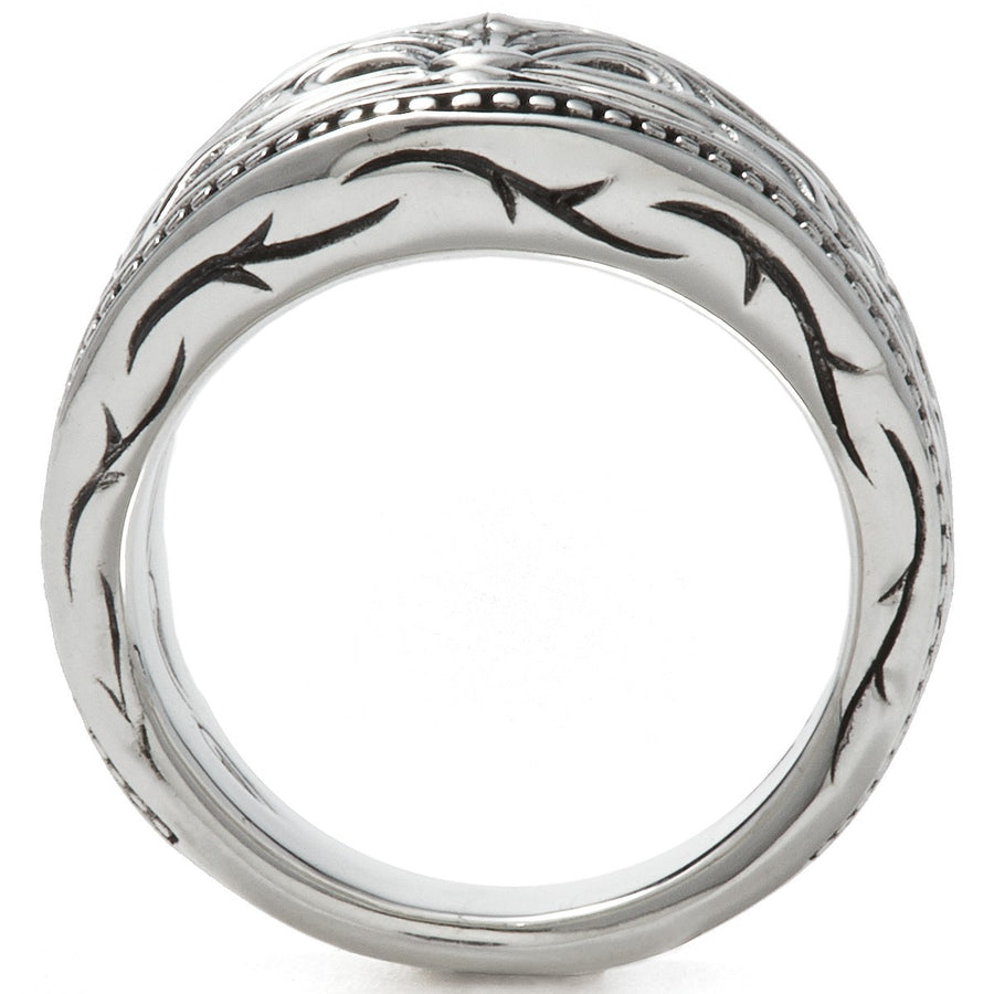Scott Kay Unkaged Spartan Shield Ring 21mm Wide