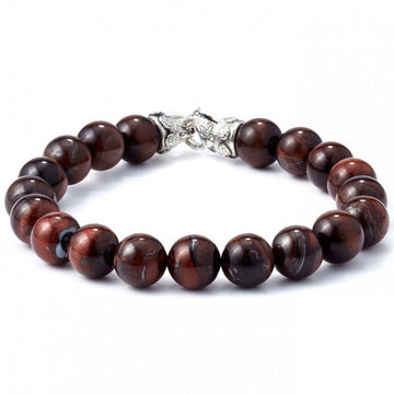 Scott Kay 10mm Red Tiger Eye Stone Bracelet