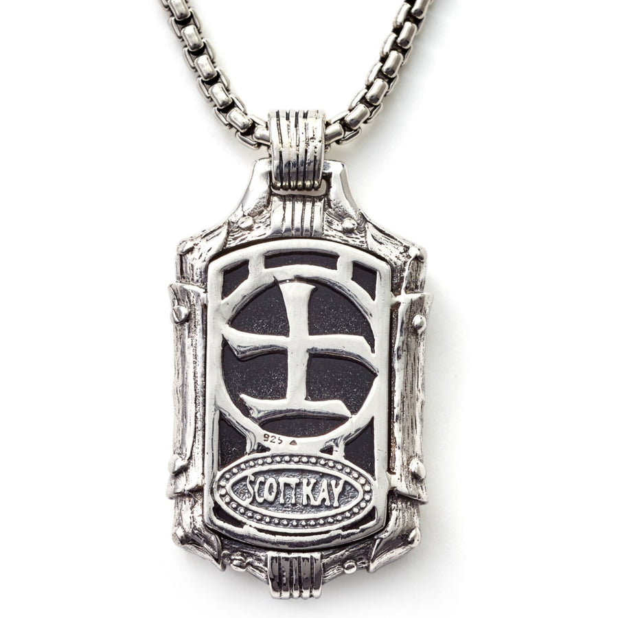 Scott Kay Samurai Dog Tag Necklace