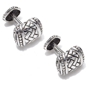 Scott Kay Sterling Silver Equestrian Cufflinks, Swivel Back