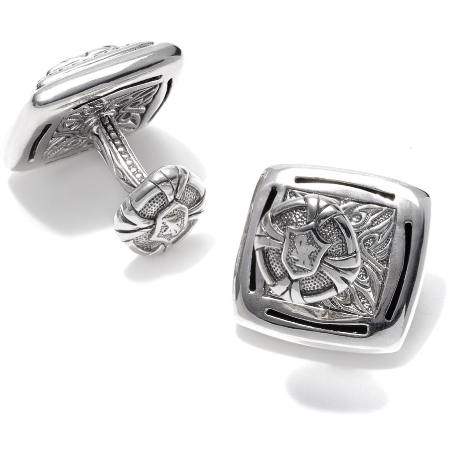 Scott Kay Framed Equestrian Men's Silver Cufflinks