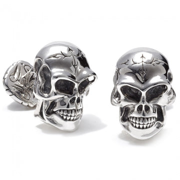 Scott Kay Unkaged Men's Skull Cufflinks, Sterling Silver