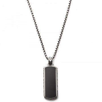 Scott Kay Dog Tag Black Onyx Pendant on 26