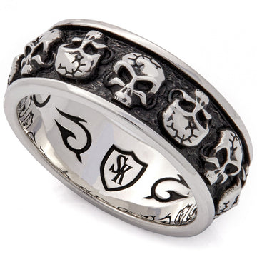Scott Kay Carved Men's Skull Ring, Sterling Silver