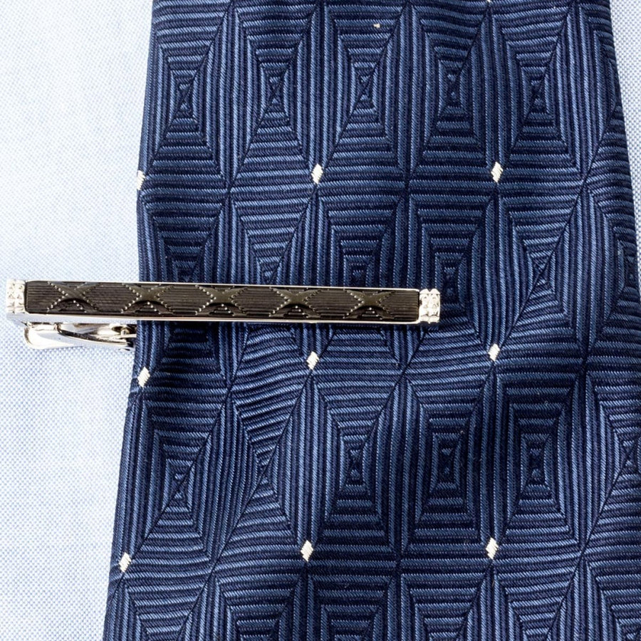 Tateossian Black Rhodium Plated Corto Tie Clip