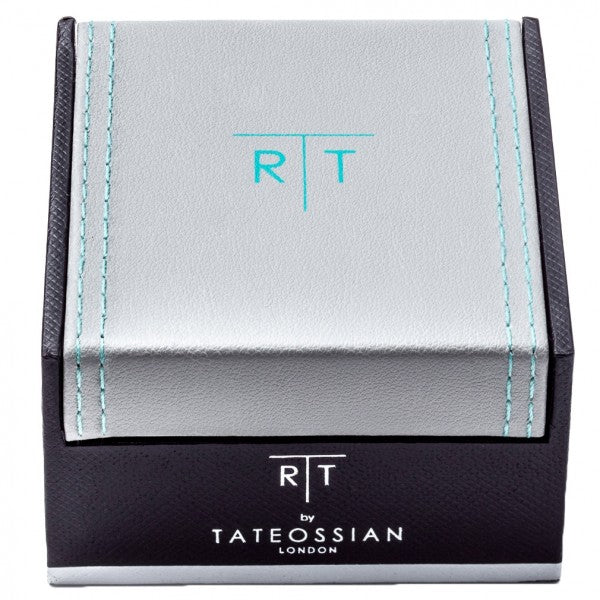 Tateossian Silver Rhodium Plated Corto Small Tie Clip