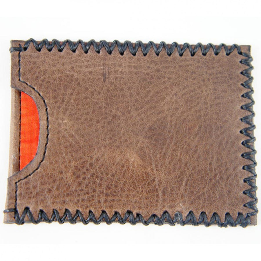 Tola Stanley Leather Card Holder, Brown and Black