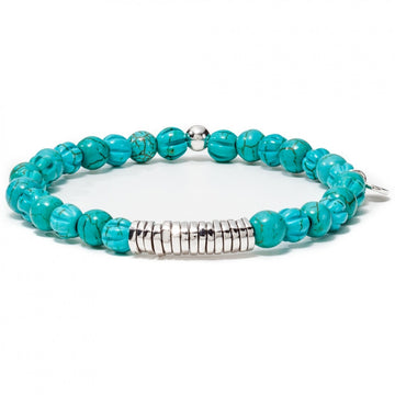 Tateossian Men's Blue Bead Bracelet with Sterling Silver Clasp