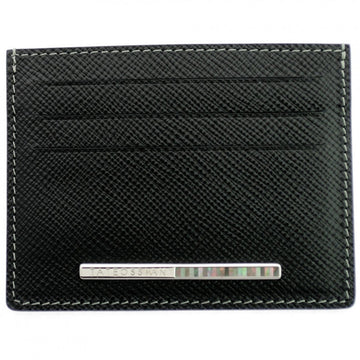 Tateossian Card Holder with Mother Of Pearl Inlay - Black and Grey