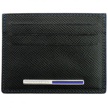 Tateossian Card Holder with Recon Lapis Inlay - Black and Blue