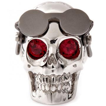 Tateossian Funky Aviator Skull Pin With Gunmetal Plated Glasses - upscaleman.myshopify.com