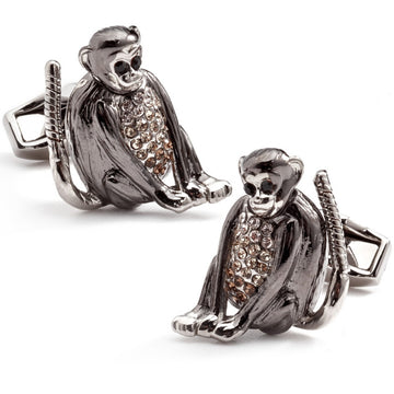 Tateossian Mechanical Monkey Cufflinks, Silver
