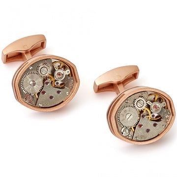 Tateossian Tonneau Skeleton Tools Limited Cufflinks, Rose Gold