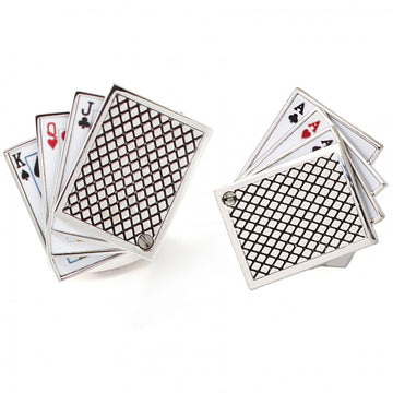 Tateossian Playing Cards Cufflinks, King, Queen, Jack and Aces