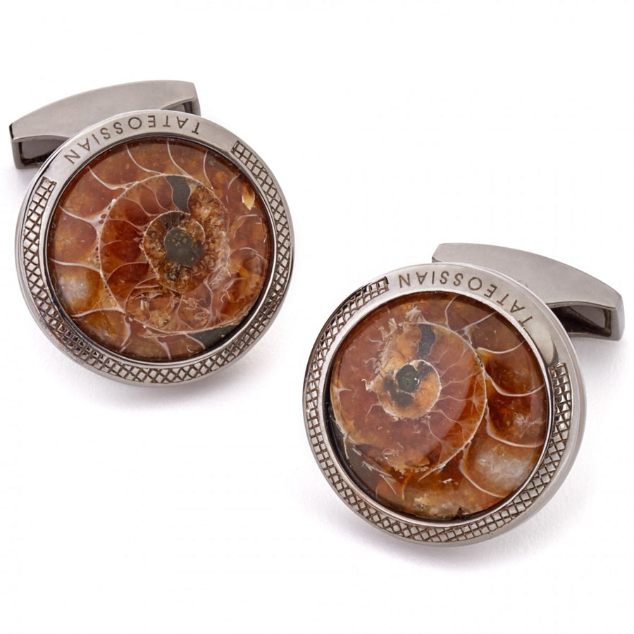 Tateossian Ammonite Fossil Cufflink Limited Edition