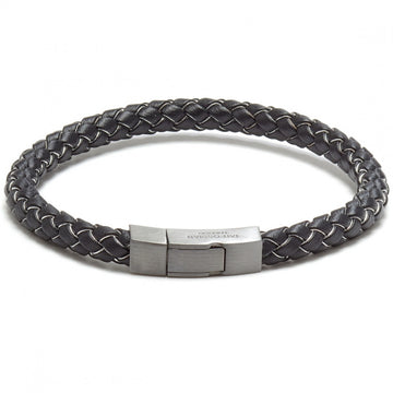 Tateossian Click Tocco Black Leather Bracelet