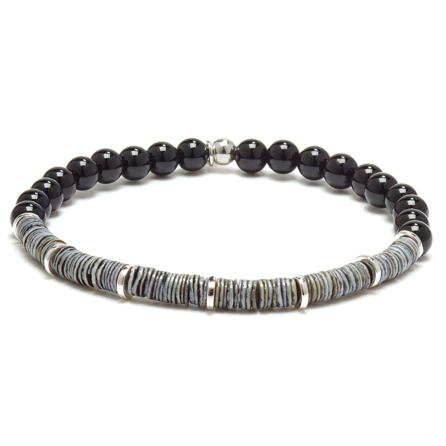 Tateossian Black Onyx Bracelet Men's Abyss Collection