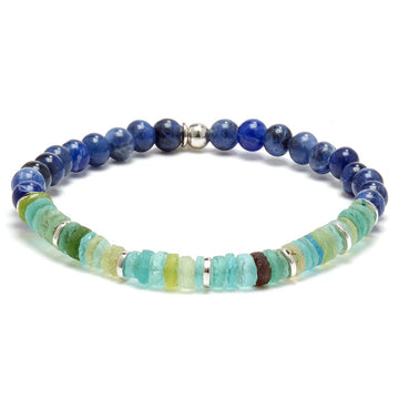 Tateossian OCEANA Men's Glass Bead Bracelet
