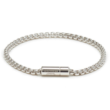 Tateossian Sterling Silver Chain Bracelet Men's Classic Collection