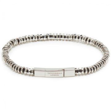 Tateossian Men's PURE THREAD Sterling Silver Bead Bracelet