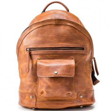 Will Leather Goods Men's Silas Backpack, 15.6 Inches, Tan