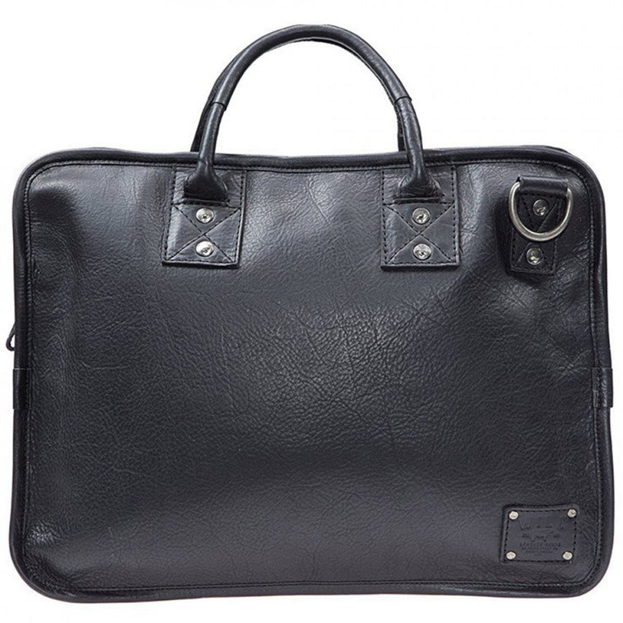 Will Leather Goods Mens Hank Satchel - 15.6 Inches, Black - upscaleman.myshopify.com