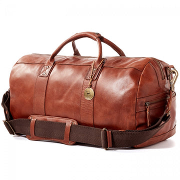 Will Leather Goods Leather Atticus Duffle, Cognac