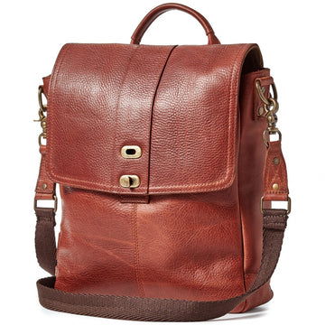Will Leather Goods Signature Leather Bag Collection Ernest North-South Crossbody Leather, Cognac