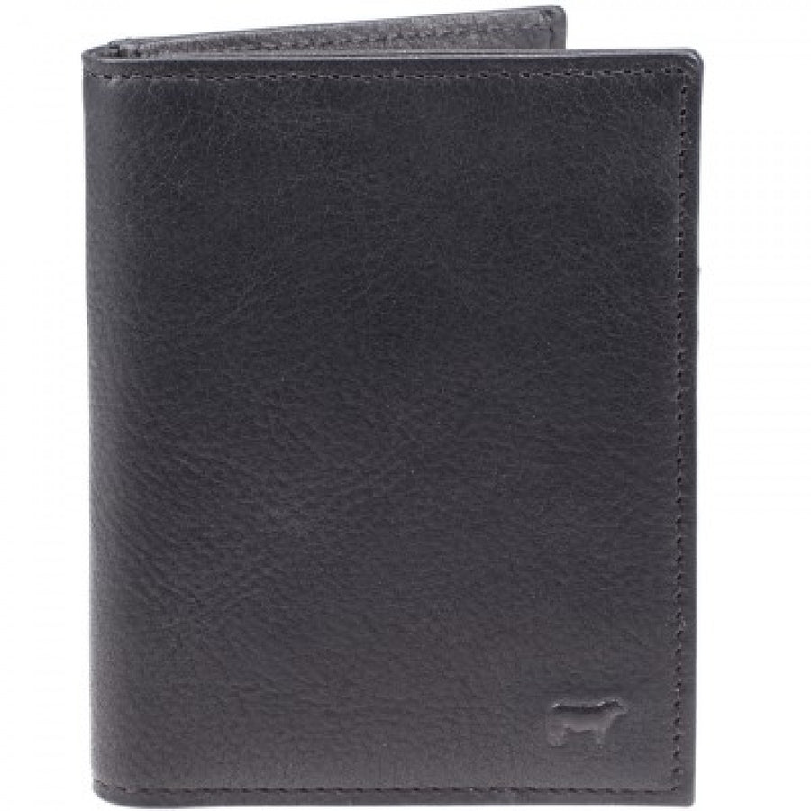 Will Leather Goods Signature Leather Card Case, Cyrus, Black