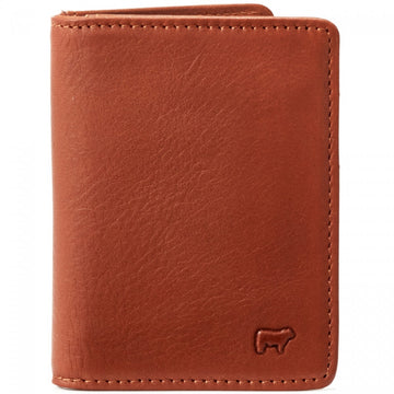 Will Leather Goods Signature Leather Wallet Collection Cyrus Card Case, Cognac Bridle Leather