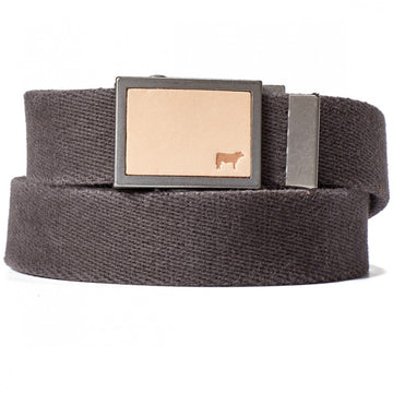 Will Leather Goods Gunner Collection in Cotton Webbing Belt Black