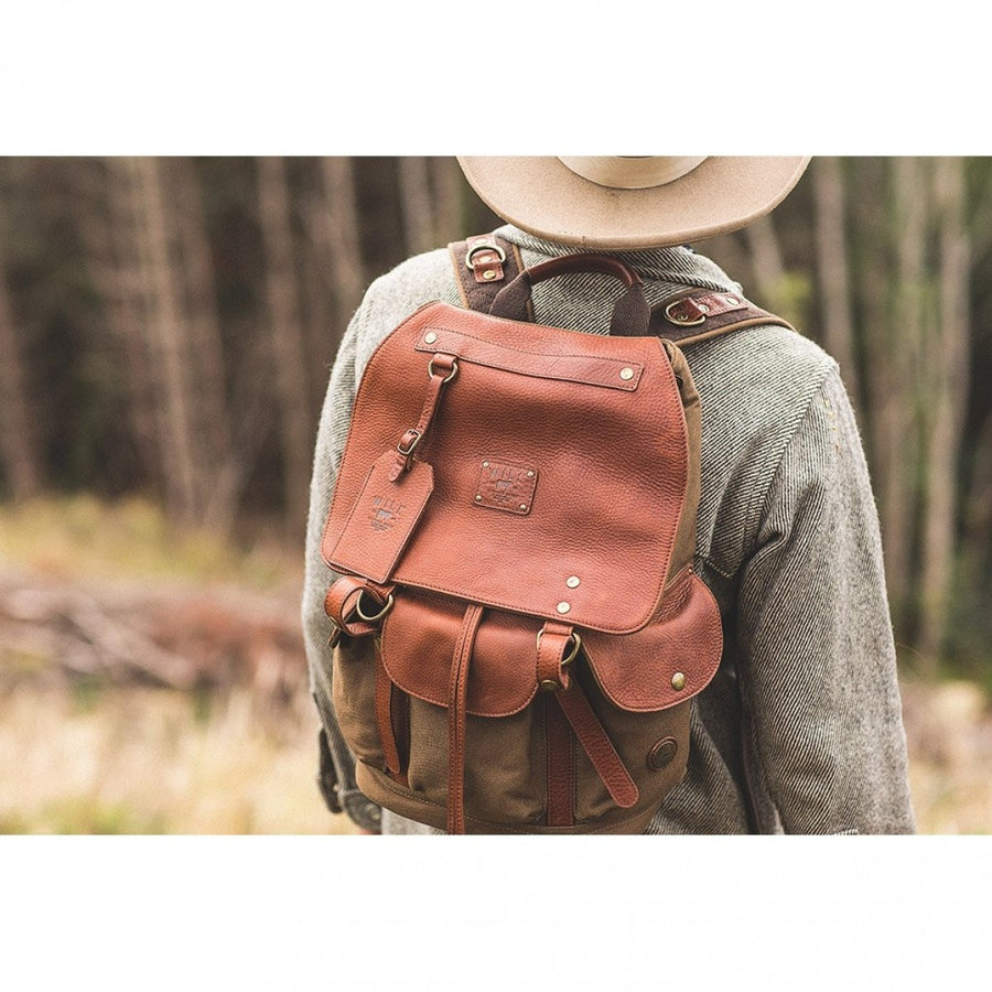 Will Leather Goods Signature Canvas & Leather Collection, Tobacco/Saddle