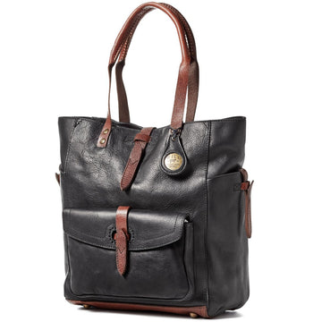 Will Leather Goods The Journey Collection Women's Ashland Tote Bridle Leather, Black - upscaleman.myshopify.com