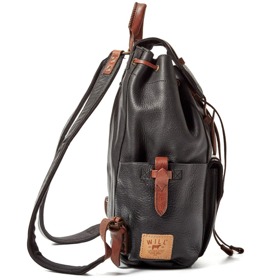 Will Leather Goods The Journey Collection Rainier Backpack Bridle Leather, Black