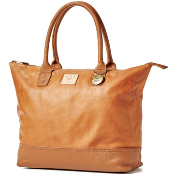 Will Leather Goods Totes Bag Collection All Leather Tote Bag, Tan