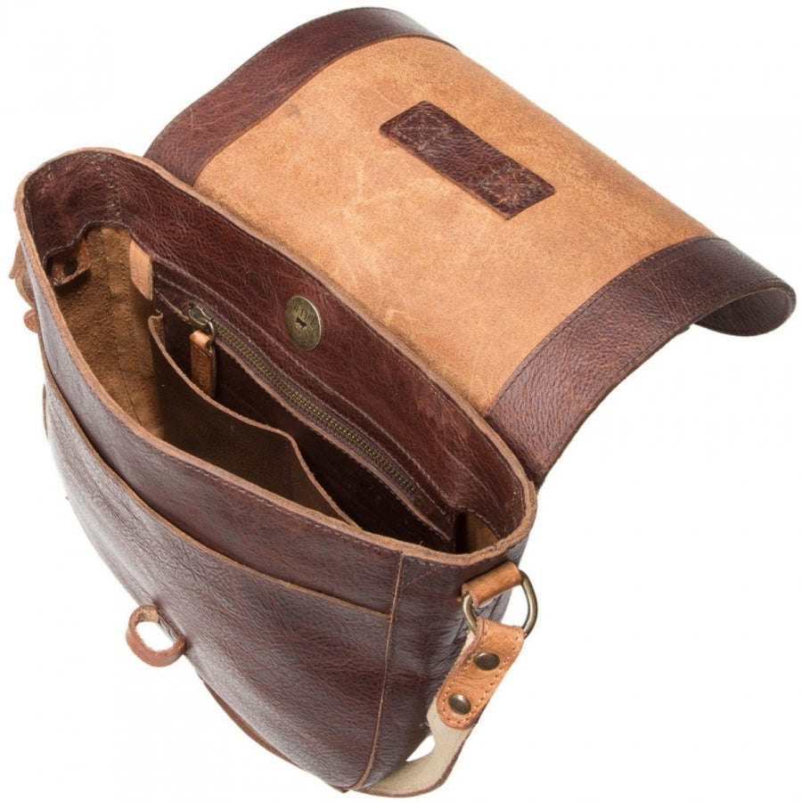 Will Leather Goods The Journey Collection Women's Seneca Crossbody Leather, Bridle Tan