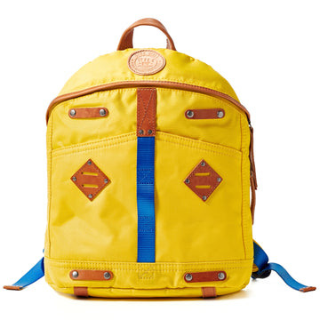 Will Leather Goods Give WILL Backpack Yellow Canvas with Tan Leather Trim, Small