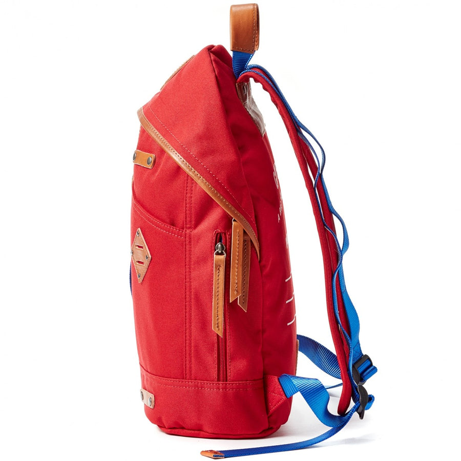 Will Leather Goods Give WILL Backpack Red Canvas with Tan leather Trim, Large
