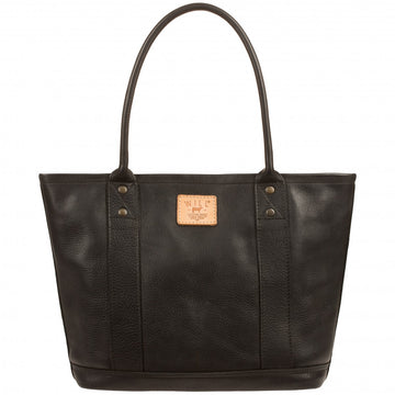 Will Leather Goods Signature Everyday Leather Tote Bag, Black - upscaleman.myshopify.com